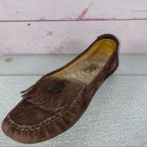 Ugg Austrailia Odyssa Suede Sheepskin Loafers 6